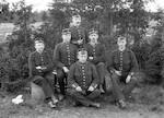 Militærbilde 1906 - Glassplatebilde fra eske nr. 4